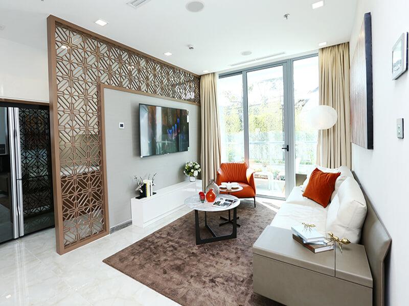 phòng khách phải được thiết kế theo phong cách chung của căn hộ