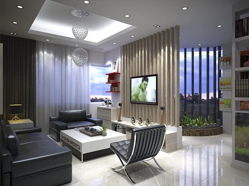 mẫu phòng khách mang đậm dấu ấn của phong cách hiện đại