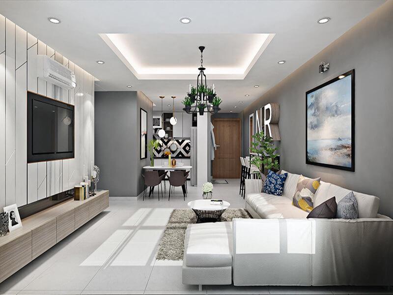 phòng khách lựa chọn đúng vị trí sẽ tăng tính thẩm mỹ không gian