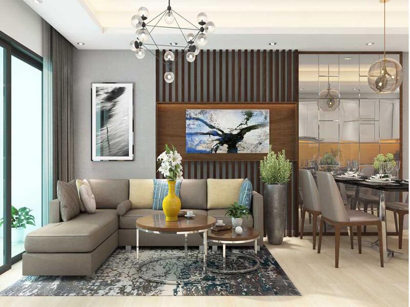 Sự sáng tạo trong mẫu phòng khách hiện đại trong căn hộ chung cư