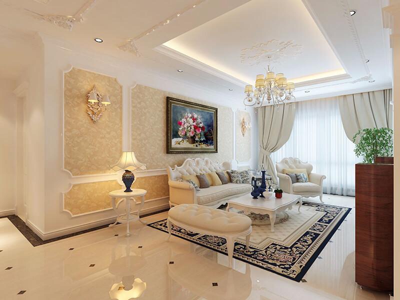 không gian phòng khách tân cổ điển sang trọng