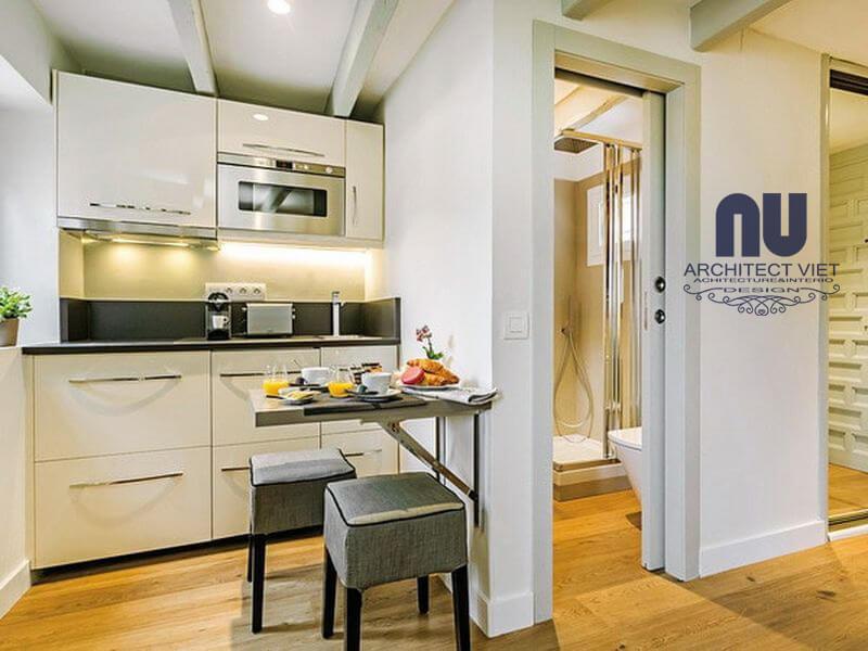 đóng chặt cửa nhà vệ sinh nếu như không sử dụng để đảm bảo phong thủy cho phòng bếp