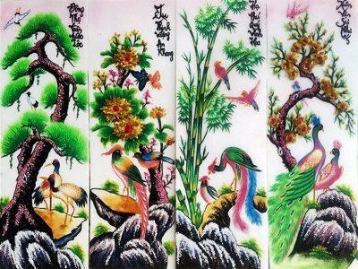 Tránh Tứ quý tượng trưng cho 4 mùa trong năm
