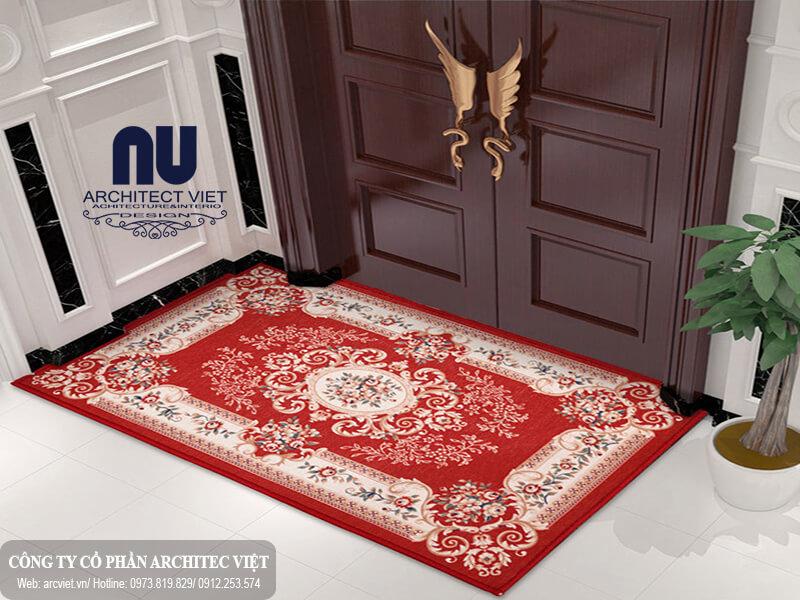 sử dụng thảm trải sàn đặt trước nhà hóa giải hướng nhà không hợp tuổi