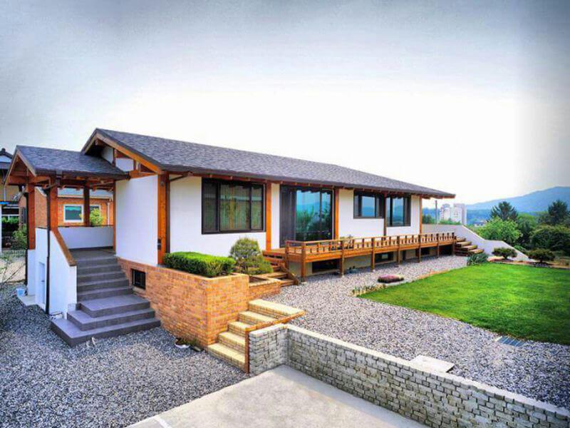 vẻ đẹp hài hòa trong mẫu nhà ở xứ Hàn