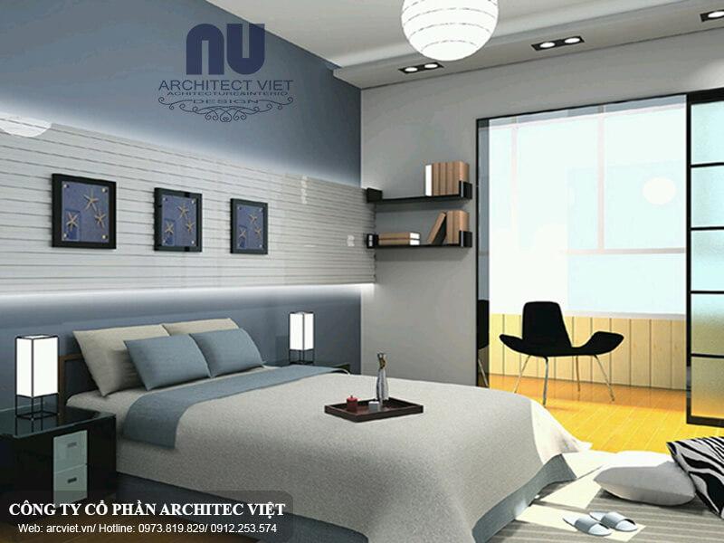 lựa chọn Màu sắc sơn nội thất hợp lý cho phòng ngủ người mệnh Thủy