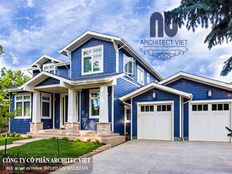 chọn màu xanh dương làm nền chủ đạo khi chọn màu sơn nhà cho người mệnh Thủy
