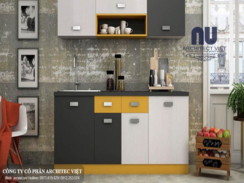 Trang trí màu sắc tạo điểm nhấn cho phòng bếp