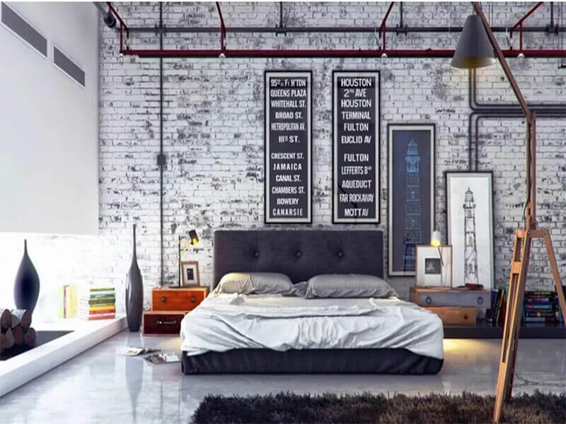trang trí phòng ngủ hiện đại cho nam giới