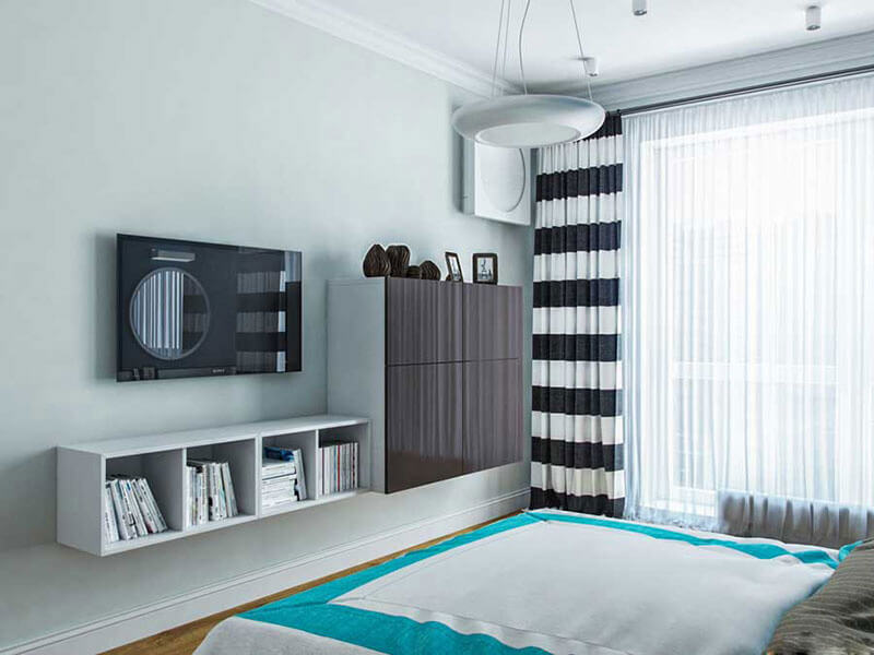 tăng thêm điểm nhấn căn phòng bằng thiết kế cửa kính hiện đại