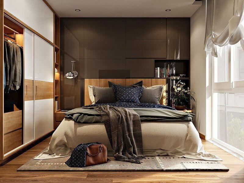 thiết kế phòng ngủ đẹp cho nam sáng tạo và ấn tượng