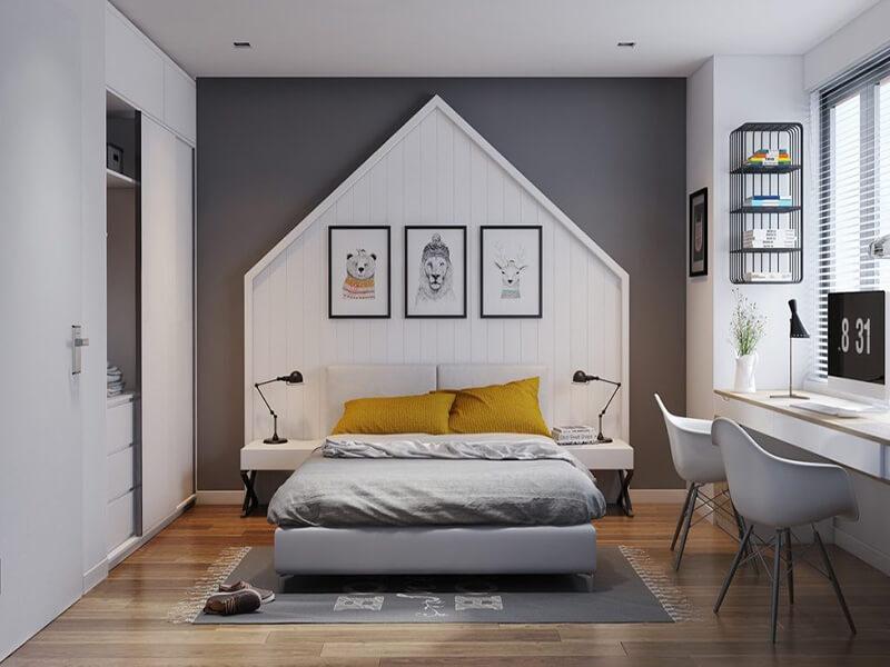 mẫu phòng ngủ đẹp cho nam đầy lôi cuốn