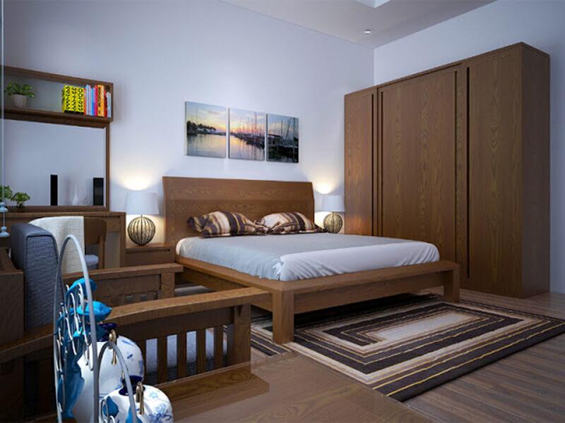 lựa chọn nội thất phù hợp với tổng thể không gian phòng ngủ