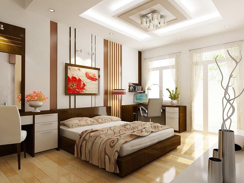 vẻ đẹp hiện đại của mẫu phòng ngủ 16m2