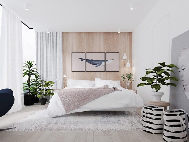 xu hướng thiết kế phòng ngủ 16m2 hiện nay