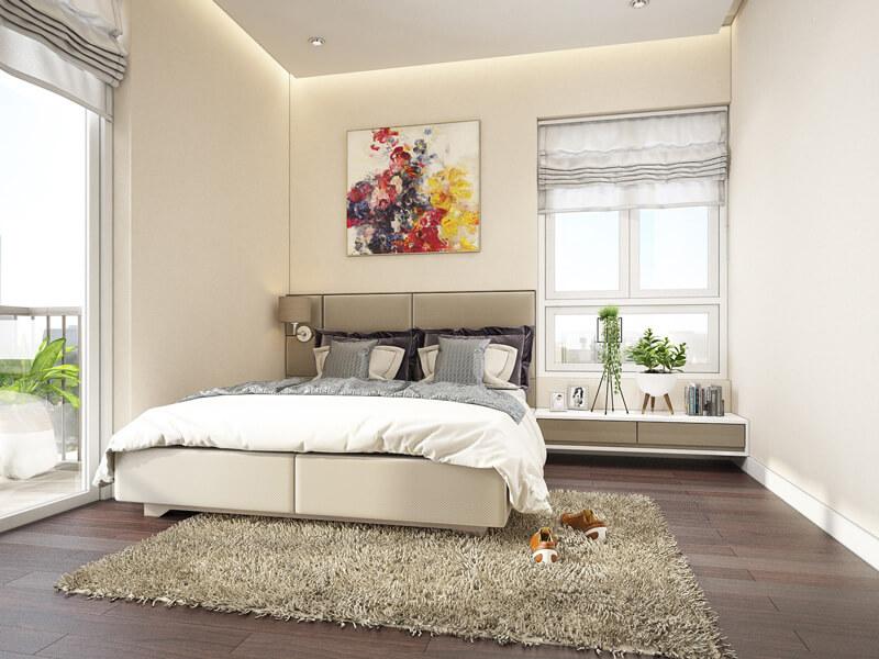 thiết kế phòng ngủ 16m2 đẹp miễn chê