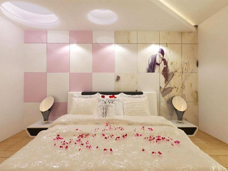 một không gian lãng mạn với những điểm nhấn đặc biệt sẽ giúp vợ chồng tình cảm thăng hoa trong chính căn phòng ngủ của mình