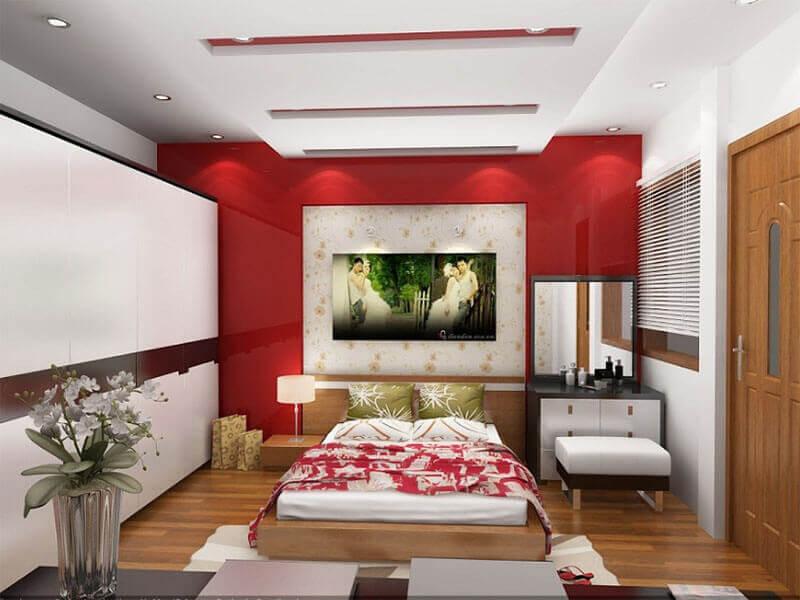 thiết kế phòng ngủ vợ chồng mới cưới đẹp mắt