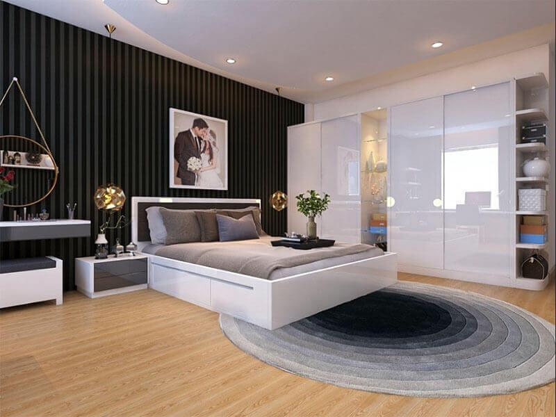 những gam màu nhẹ nhàng sẽ giúp không gian phòng ngủ thêm phần lãng mạn