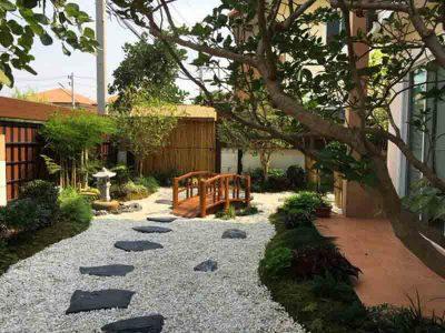 thiết kế vườn Kiểu Nhật đẹp mặt