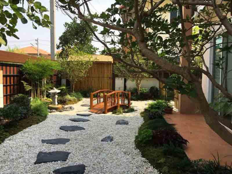 thiết kế sân vườn kiểu Nhật đẹp mắt