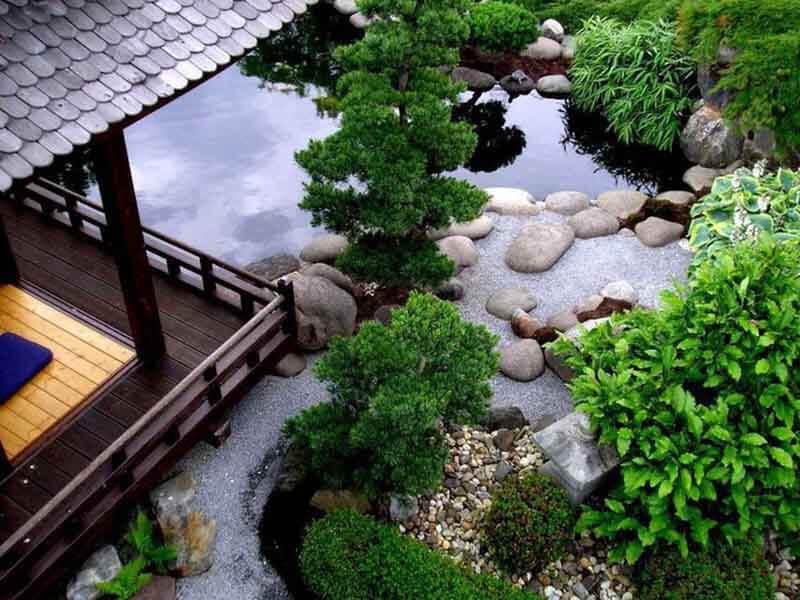 Thiết kế không gian sân vườn kiểu Nhật