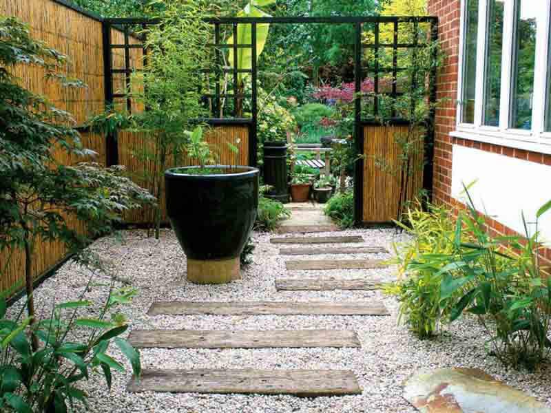 Thiết kế sân vườn Nhật Bản đơn giản mà tinh tế