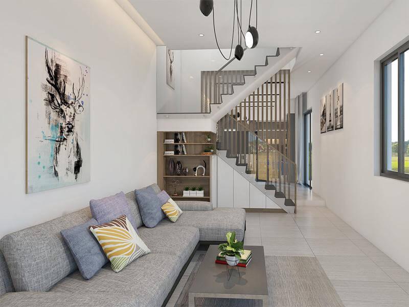 các mẫu nội thất nhỏ gọn sẽ khiến phòng khách thêm rộng rãi, thoáng mát