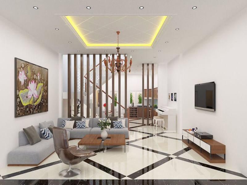 cách trang trí phòng khách nhà ống phong cách hiện đại