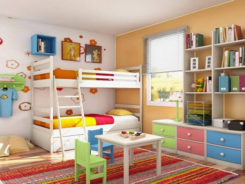 bố trí nội thất hài hòa nổi bật cả không gian phòng ngủ