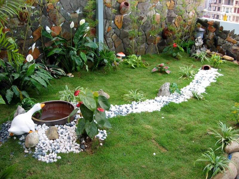 thiết kế tiểu cảnh sân vườn đẹp mắt cho ngôi nhà