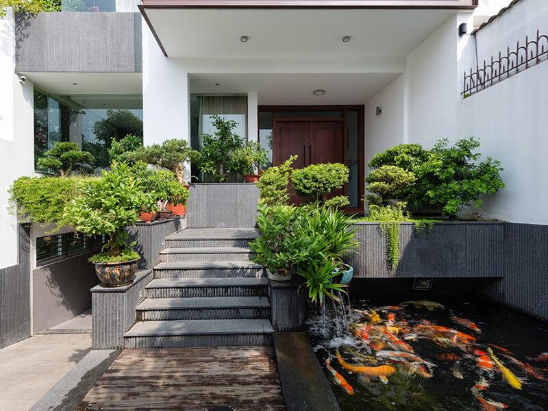 thiết kế trang trí sân vườn đẹp tại các thành phố lớn