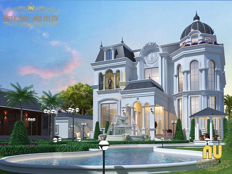 mẫu biệt thự kiểu Pháp đẹp cuốn hút