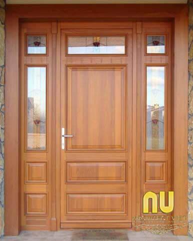 Cửa nhà đẹp từ gỗ công nghiệp