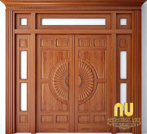 cửa nhà đẹp bằng gỗ tự nhiên