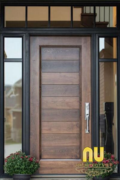 cửa nhà đẹp - Cửa gỗ công nghiệp đem lại sự hiện đại