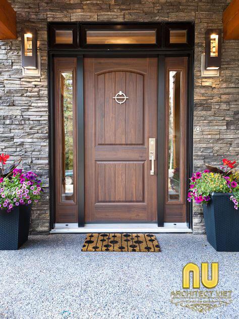 cửa nhà đẹp- Cửa gỗ tự nhiên tăng tính thẩm mỹ cho không gian