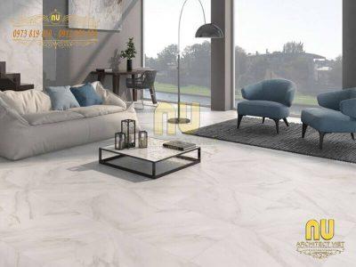 Sử dụng gạch lát nền phòng khách