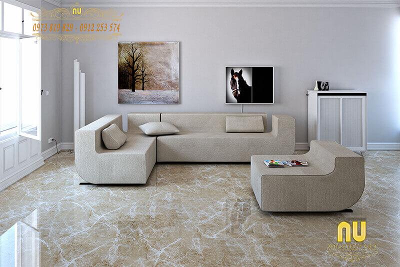 Chọn gạch lát nền phù hợp với không gian phòng khách