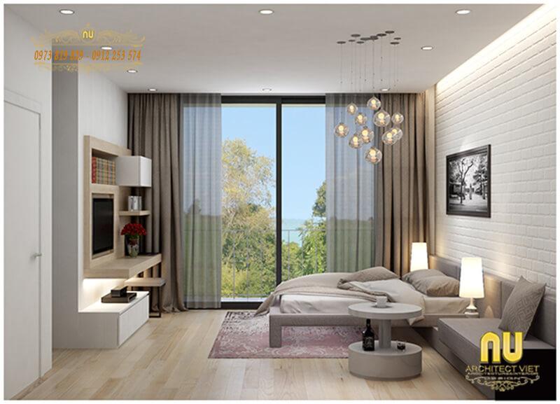 phòng ngủ đơn giản mà hiện đại