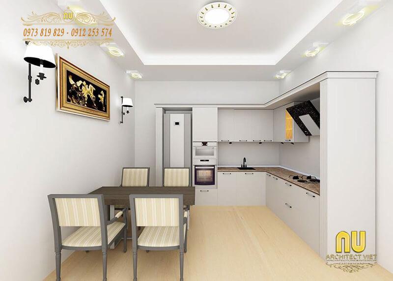 bếp cho nhà nhỏ đẹp hợp phong thủy