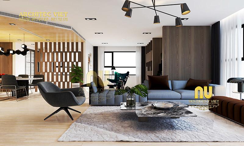 Mẫu phòng khách phong cách hiện đại đẹp
