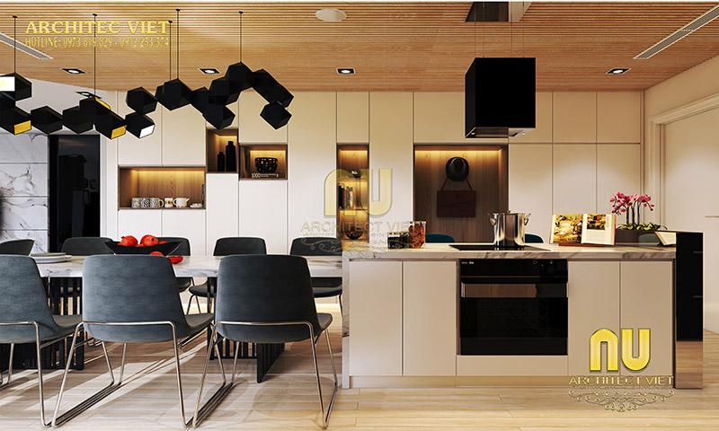 Thiết kế phòng bếp sang trọng hiện đại