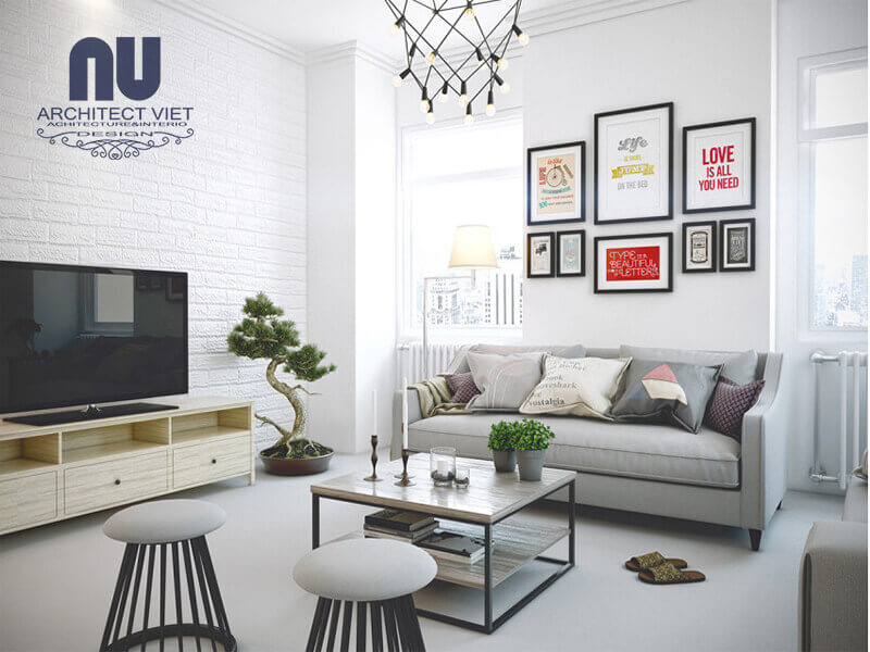 màu sắc và ánh sáng hợp lý trong phòng khách