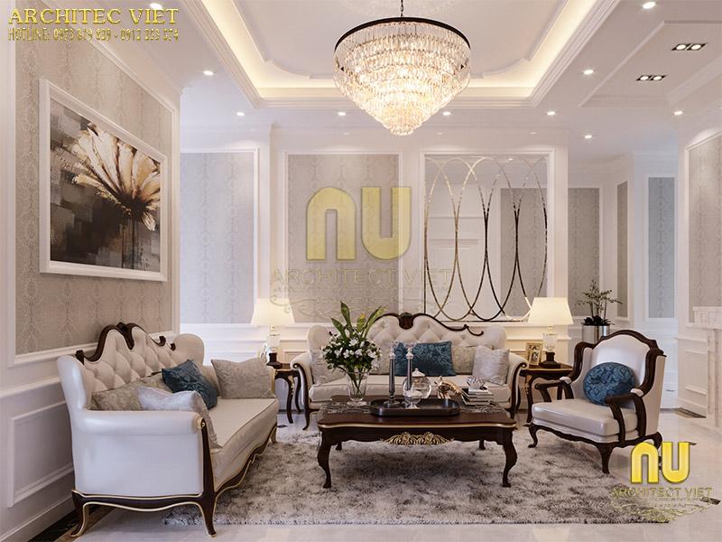 Thiết kế phòng khách tân cổ điển đẳng cấp