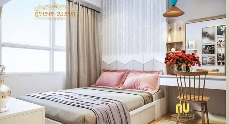 Sắc trắng tinh tế làm nền cho phòng ngủ