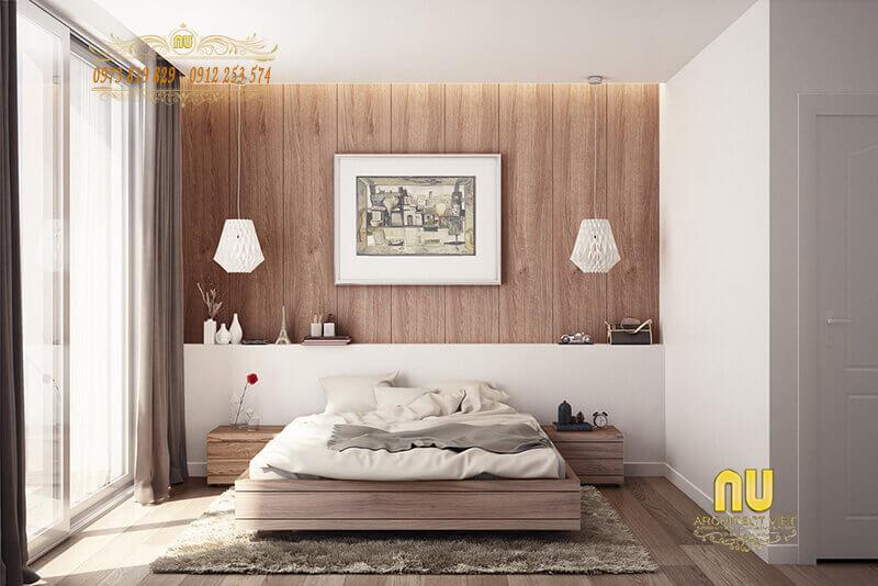 màu gỗ giản dị mà gần gũi cho phòng ngủ