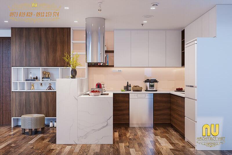 phòng bếp đẹp hợp phong thủy, mang đến nhiều may mắn và tài lộc cho gia chủ