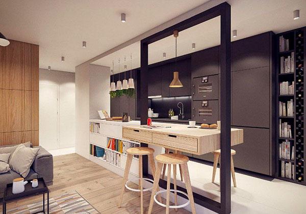 Thiết kế quầy bar tại bếp
