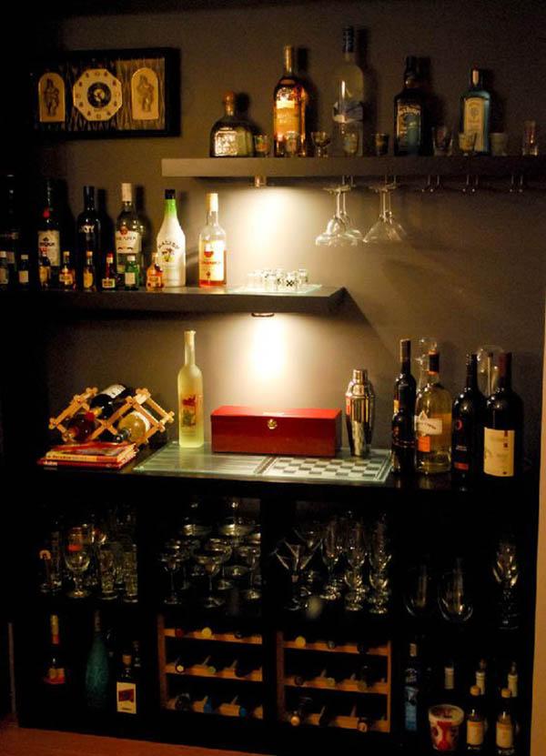 Mẫu quầy bar tại nhà sáng tạo